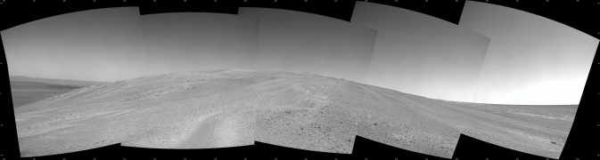NASA's Mars Exploration Rover Opportunity captured this southward uphill view
