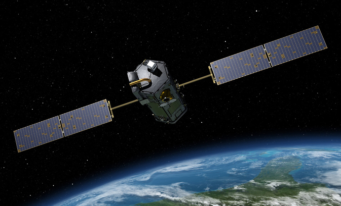 Artist's rendering of NASA's Orbiting Carbon Observatory (OCO)-2