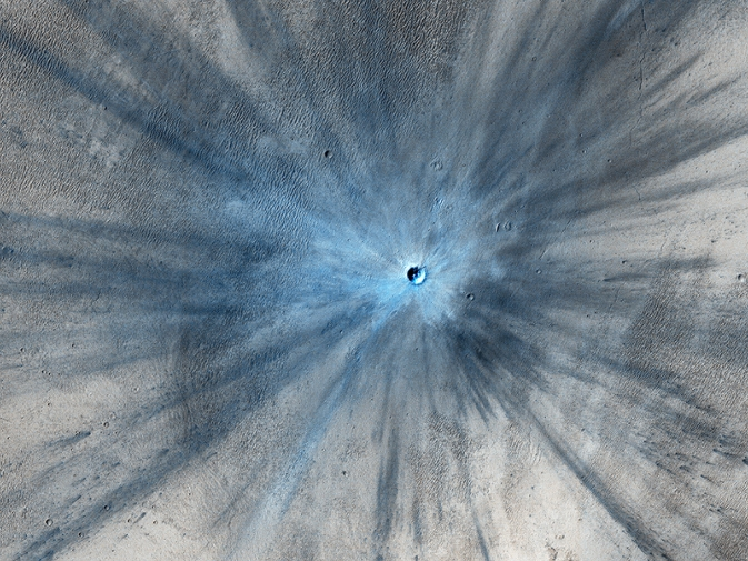New martian impact crater
