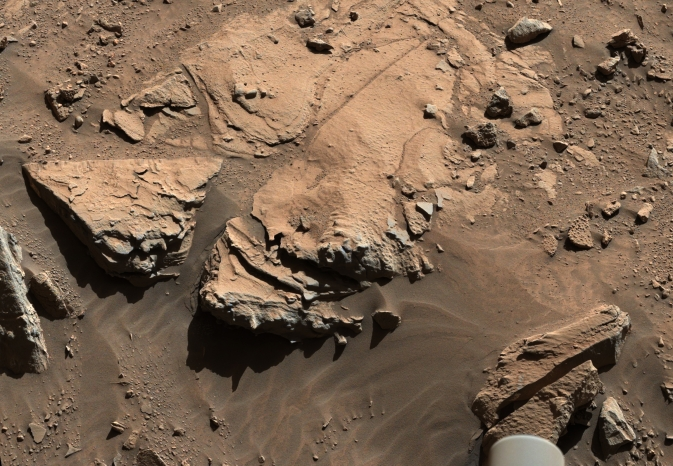 Sandstone slab on Mars