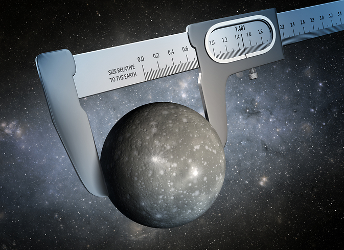 Scientists have made the most precise measurement ever of the size of a world outside our solar system, as illustrated in this artist's conception