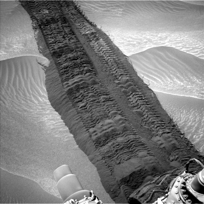 Image from the Navigation Camera on NASA's Curiosity Mars rover