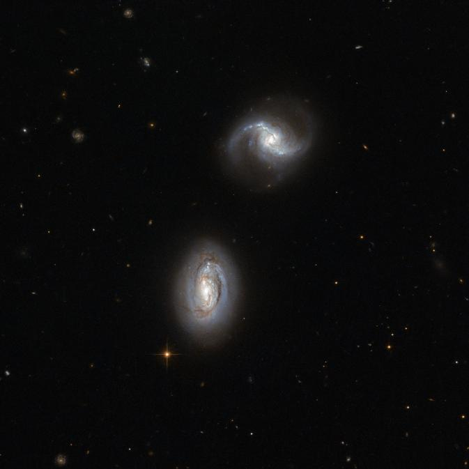 Hubble image of galaxy pair MRK 1034