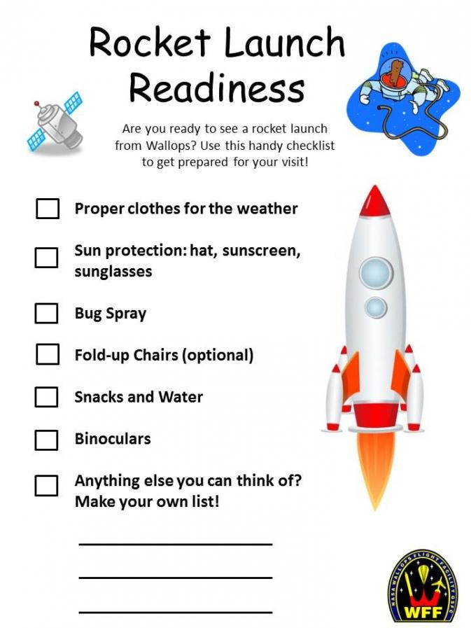 Rocket Launch Readiness Checklist Nasa