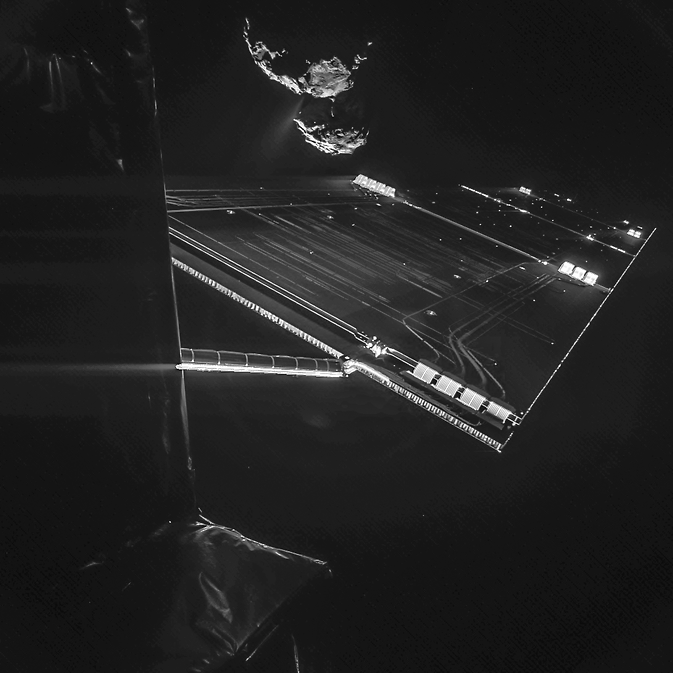 A composite image from a camera on Rosetta