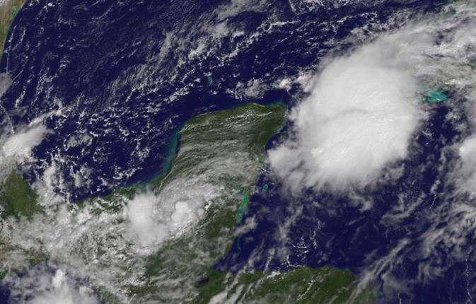 GOES-East image of TD9