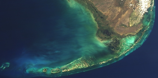 NASA satellite data of Florida Keys marine environment
