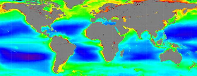 Global ocean color observations from data gathered by NASA's PACE spacecraft