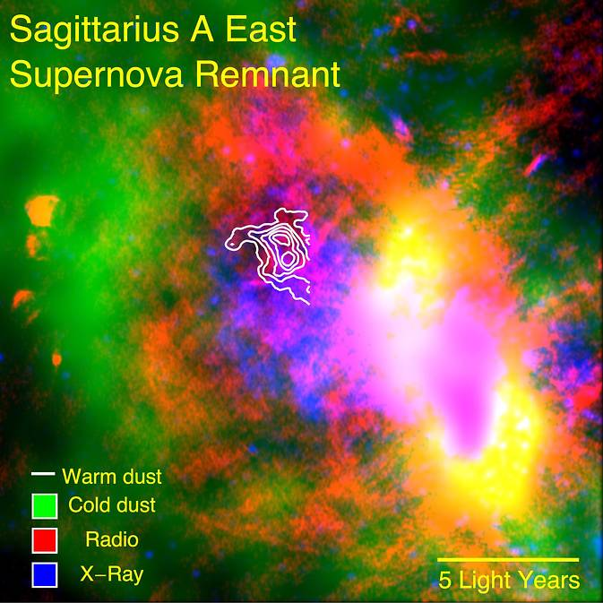 SOFIA data on a supernova