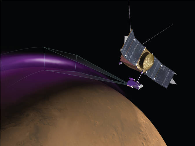 Artist concept of aurora on Mars