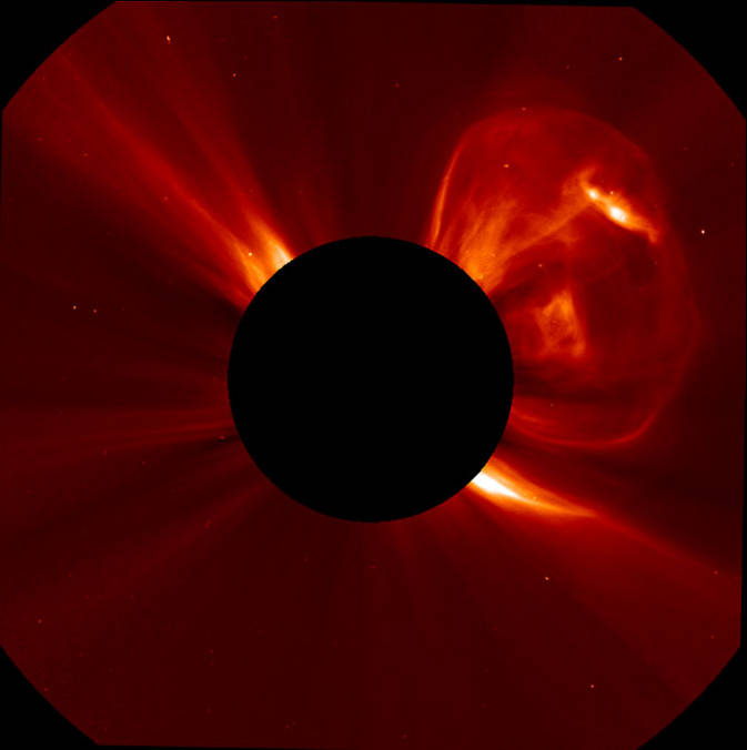 SOHO captured this CME blast on Sept. 21, 2011.