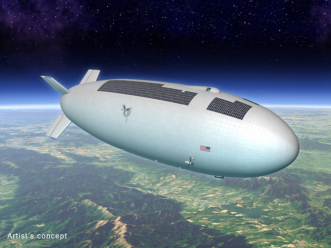 Artist's concept for a high-altitude, long-duration airship
