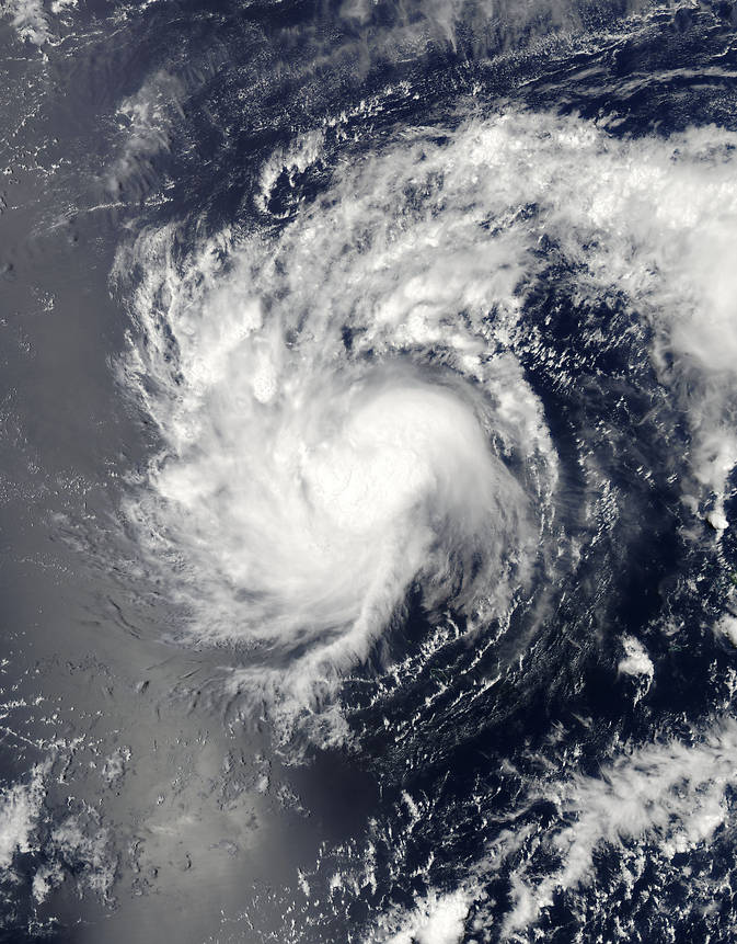 visible-light image of Haishen in the Pacific Ocean on April 4, 2015