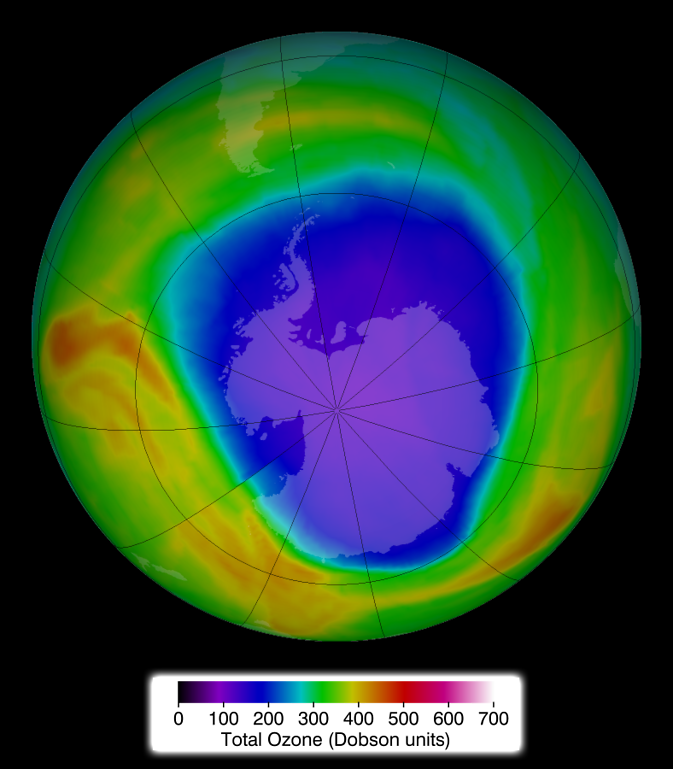 ozone concentrations on 30 Sept. 2014