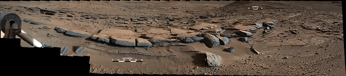 Tilted rock layers on Mars