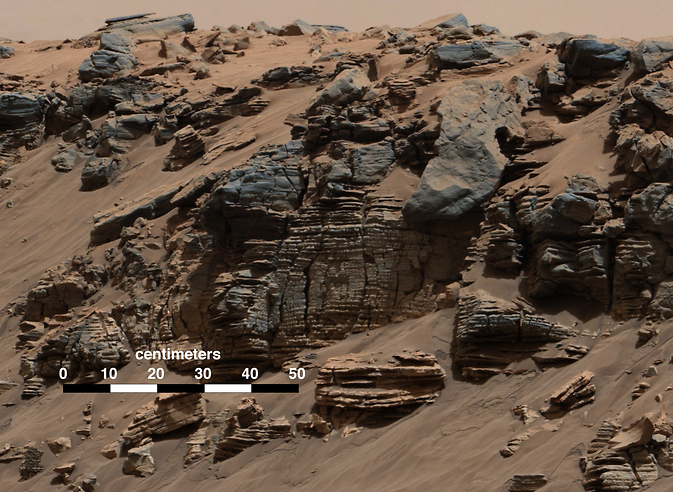 Rock layers on Mars
