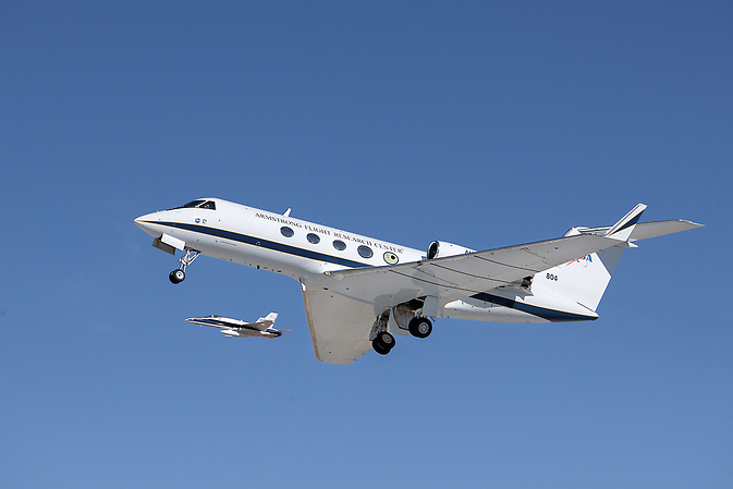 Adaptive Compliant Trailing Edge (ACTE) flight of NASA's green aviation project.
