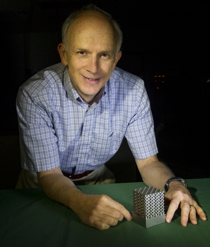 Tim Stephenson and EOS of America developed the first 3-D-manufactured object made with Invar, a material especially useful for optical benches.