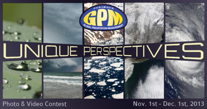 "Banner for the GPM ""Unique Perspectives"" Photo and Video Contest"