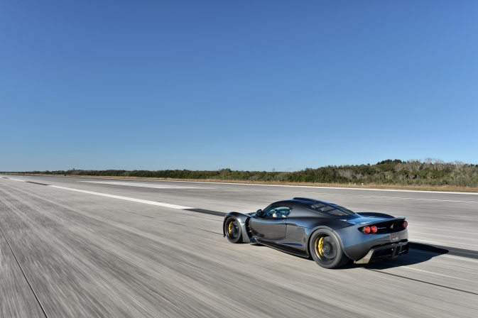 Hennessey Venom GT on Kennedy runway