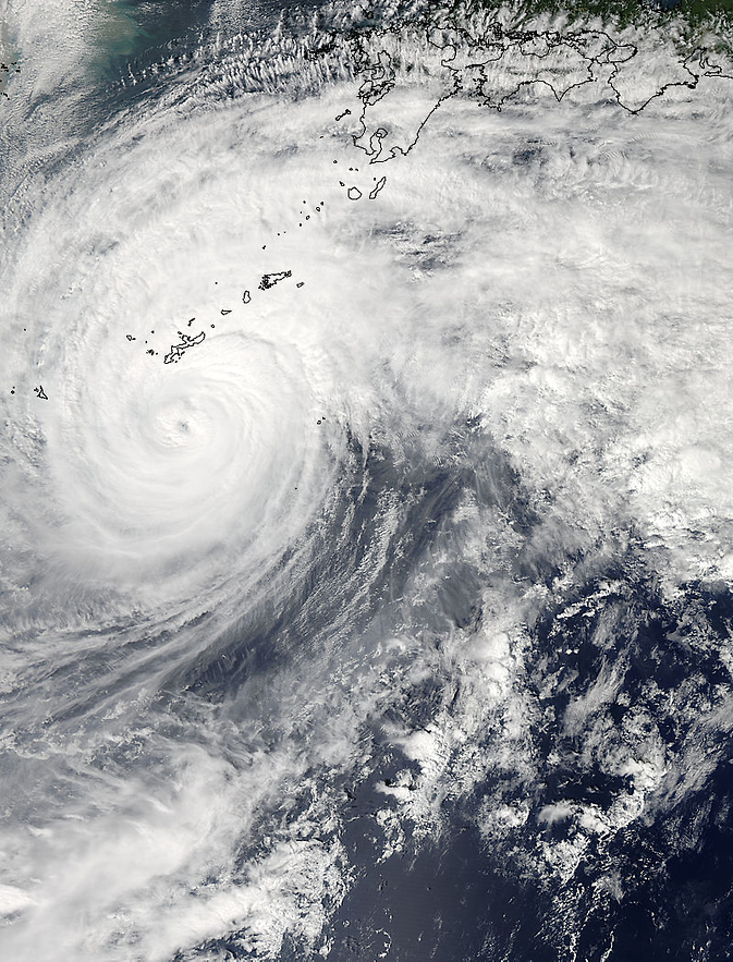 MODIS image of Vongfong