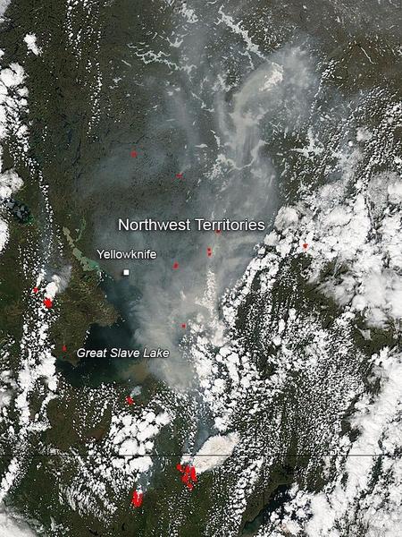 Wildfires In Canada S Northwest Territories Nasa