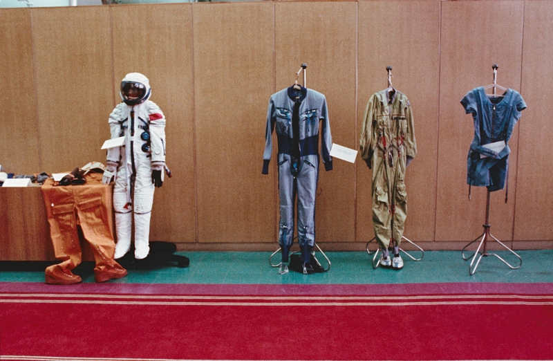 Apollo-Soyuz Cosmonaut Spacesuits - April 1975   NASA