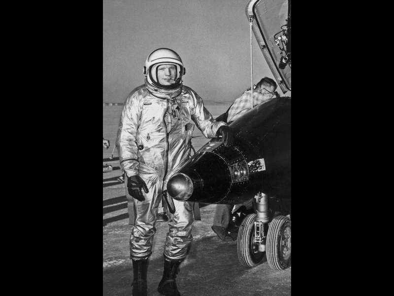 Neil Armstrong with X-15 #1 After Flight | NASA