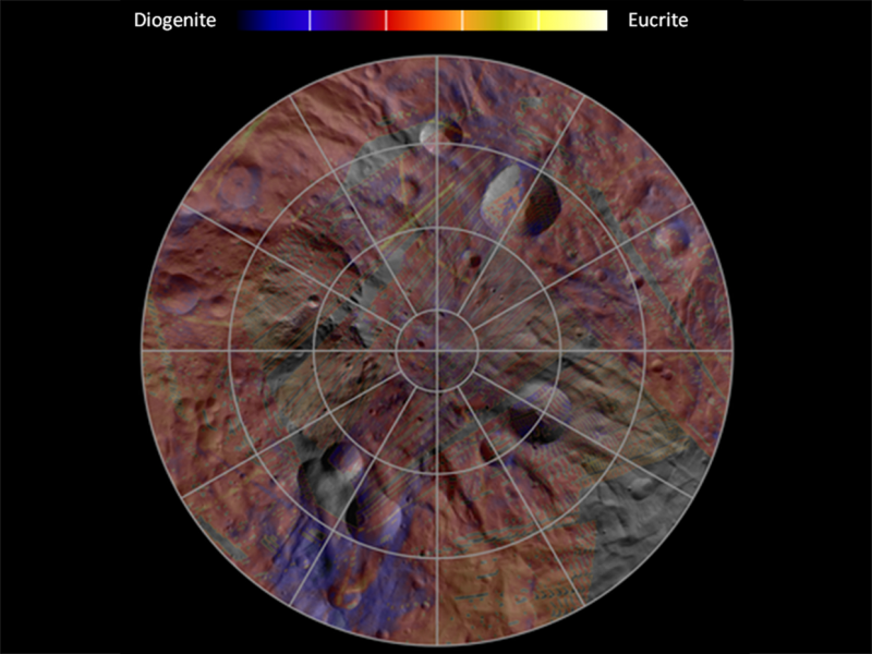 Mineral Diversity at Vesta's South Pole | NASA