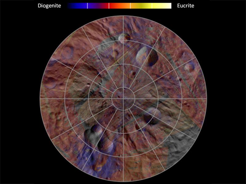 Mineral Diversity at Vesta's South Pole | NASA