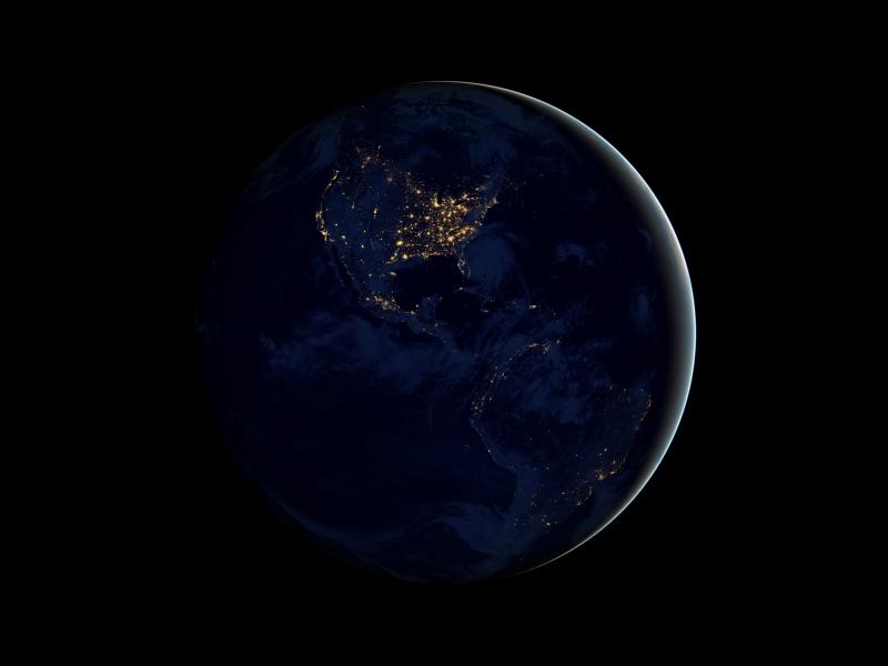 footprint north america nasa night light - photo #20