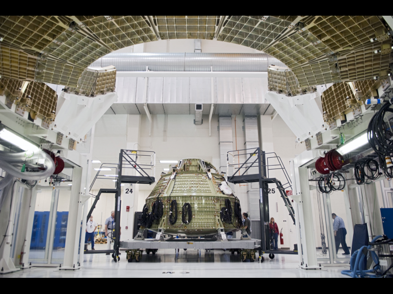 Orion Spacecraft Inside The Operations Amp Checkout Building