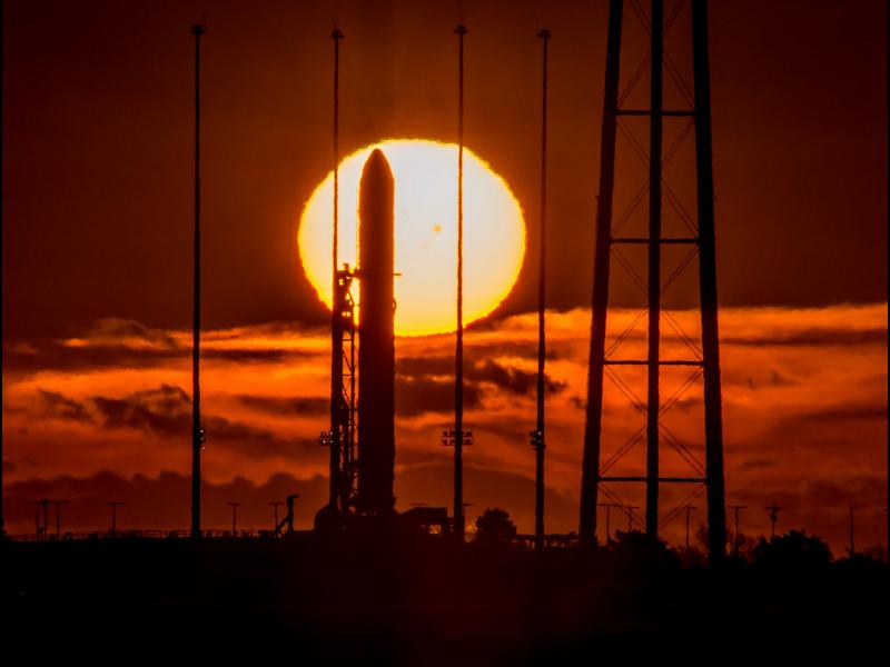 Antares And Sunspots At Sunrise Nasa
