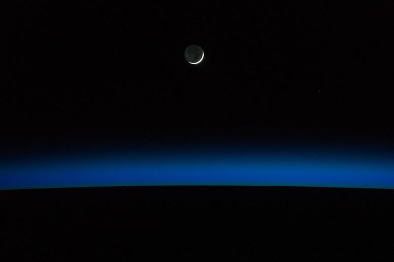 earth horizon nasa night-#48