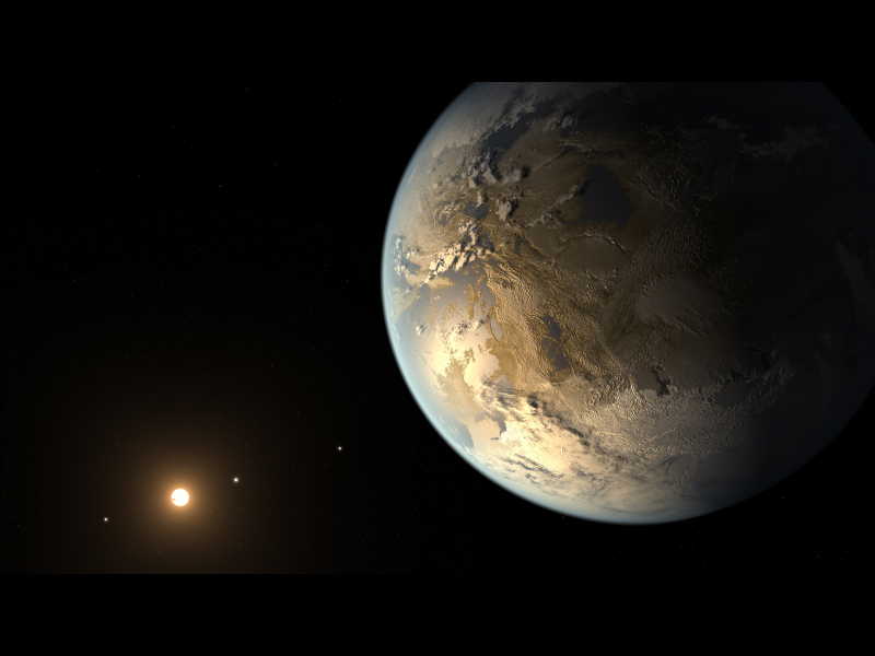 Kepler F Artistconcept on planet kepler 186f