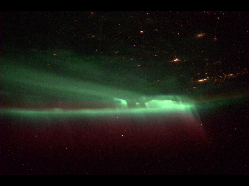 Northern Lights Viewed From the International Space ...