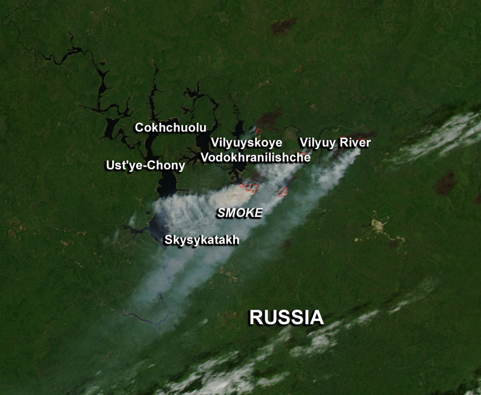 Fires Burning in Russia
