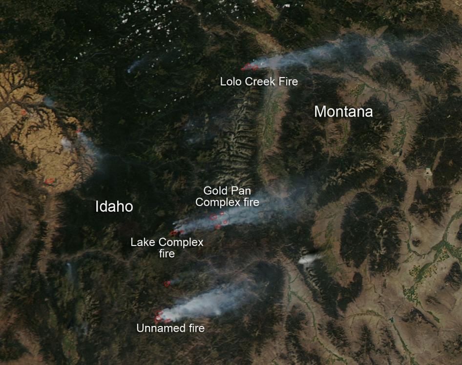 Fires In Idaho And Montana Nasa