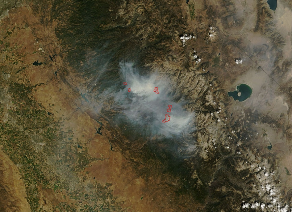 Terra image of the Rim Fire
