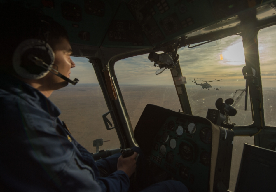 View from the Cockpit of a Russian Search and Rescue Helicopter