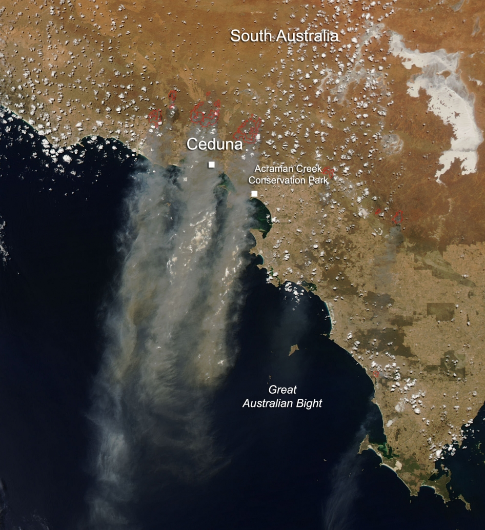 Fires in South Australia