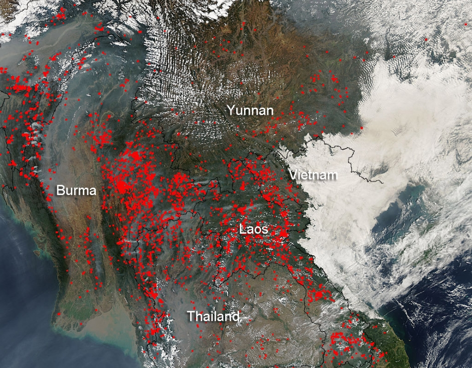 Indochina fires