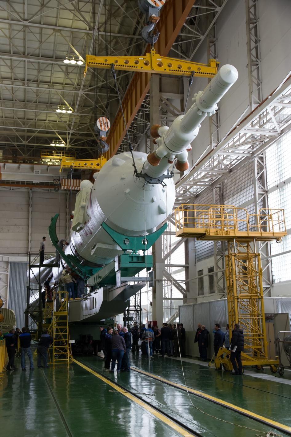 Soyuz Rocket and Soyuz TMA-12M Spacecraft