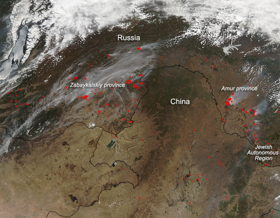 Wildfires in Eastern Russia