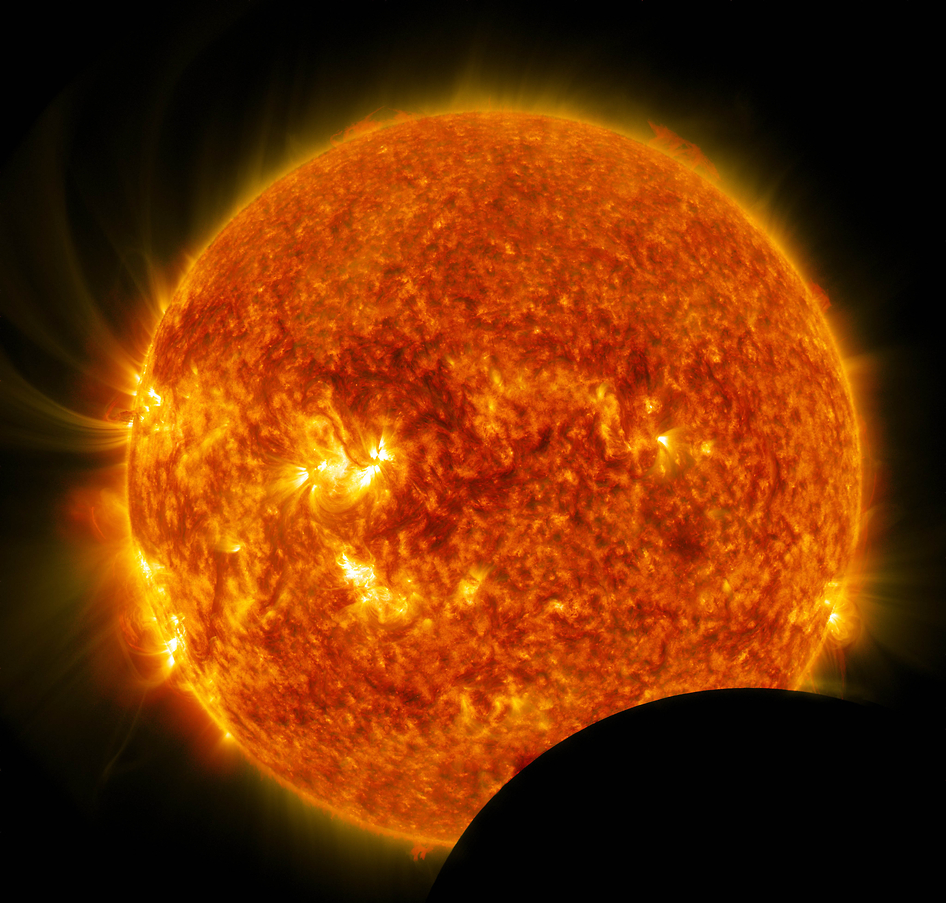 Solar Dynamics Observatory Captures Images of Lunar Transit