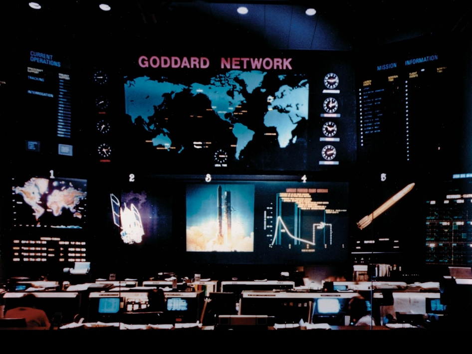 In the 1960s, when this image was taken, Goddard focuses on the development of tracking and communication facilities and capabilities for both the scientific satellites and the manned space flight program.