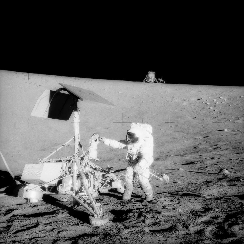 Astronauts Pay a Visit to Surveyor 3