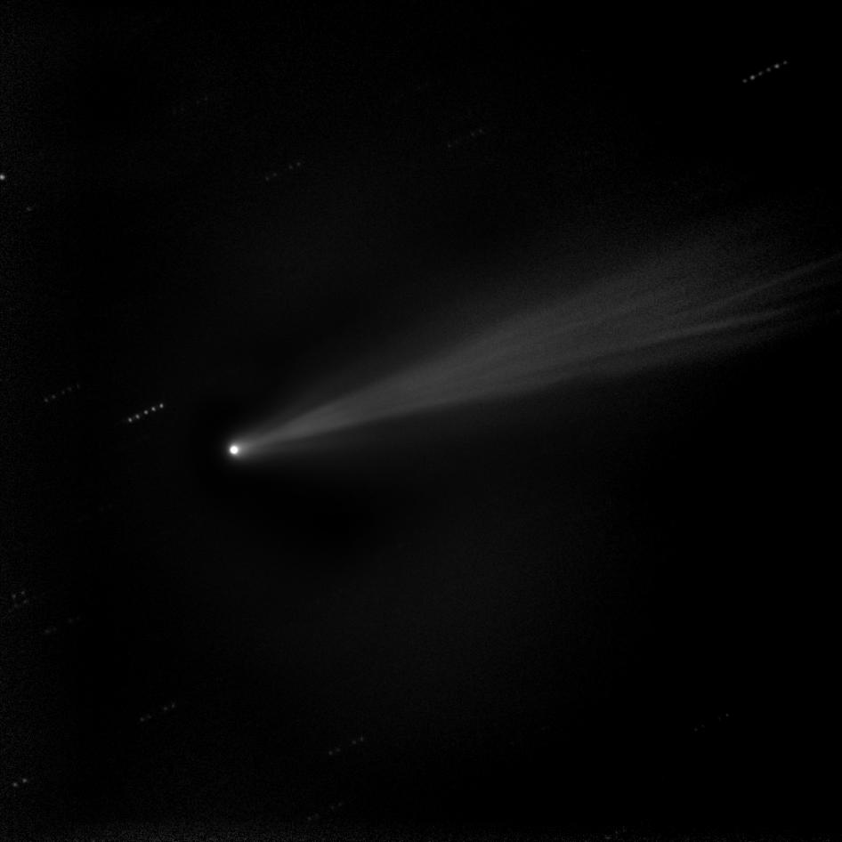 Enhanced image of comet ISON