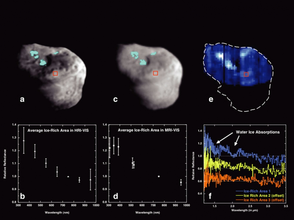 NASA - Maps and Spectra of Ice-rich Areas on Comet Tempel 1
