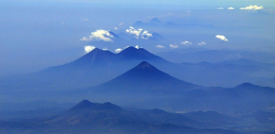 This photo of volcanoes in Guatemala was taken from NASA's C-20A aircraft during a four-week Earth science radar imaging mission deployment over Central and South America.